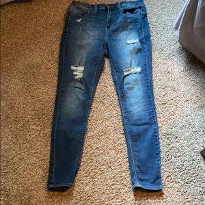 EUC Mudd Flex Stretch Jean Leggings. Size 11. Blue